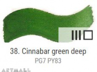 Dry watercolour cubes 1,5 ml, Cinnabar green deep
