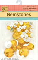 Gem Stones 8,12,20mm Each 5gms Gold