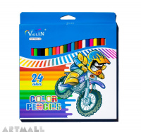 77006- 24 color pencils, blue