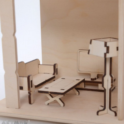 Mini wooden furniture - livingroom