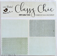 "12"" X 12"" Classy Chic White Burlap Stack 4sheets Mixmedia"