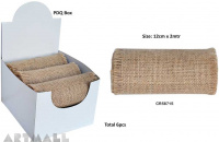 Burlap Ribbon Roll 12cm X 2mtr Natural 1pc
