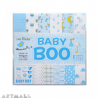Baby Boo Design 12'' X 12'' Printed Blue 12Sheet