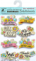 Floral Wishes Embellishments 8Pc