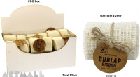 Burlap Ribbon Roll 6cm x 2mtr Cream 1 pcs