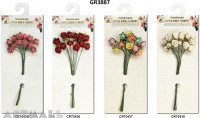 Helena Rose Bunch 15mm, pack of 12 pcs, 4 types assorted
