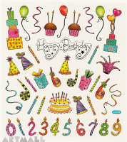 "Stickers ""Happy Birthday"""