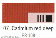 EXTRA Oil paint , Cadmium red deep, 20 ml