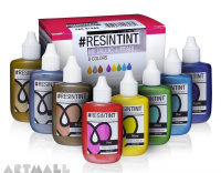 ResinTint Metallics + Pearls - 8 colors, each bottle contains 25 ml / 0.85 fl oz