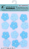 Embossed Pearl Petals Jamaican Sea 12 Pc