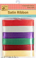 Satin Ribbon 12mm Asstd 12mtr