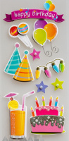 "3D Stickers ""Happy Birthday"""