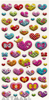 "Stickers ""Colorful Hearts"""