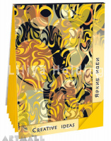 "Notepad ""Creative Ideas"", color Gold"
