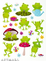 "Stickers ""Happy Frogs"""