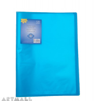 Display book 60 pocket, blue
