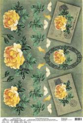 Tea Roses & Patterned Frames