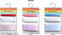 Themed Satin Ribbon Collection 6,12,25mm, 3 types assorted