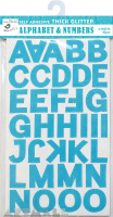 Alphabet Sticker Sheet Blue 4Sheet
