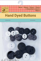 Asstd Size Button Day & Night 45Pc