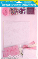 Specialty Paper Pack With Floral Pink