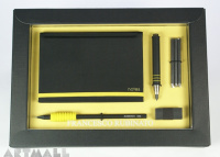 Gift set for scketching, yellow color