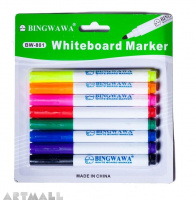 BW-801- White board marker small 8 color
