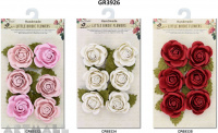Open Rose 6 pcs, 3 types assorted