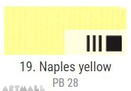 EXTRA Oil paint , Naples yellow, 20 ml