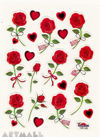 "Stickers ""Red Roses"""