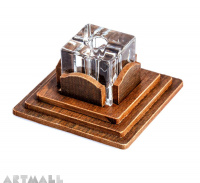 Carton simil wood base with glass pen stand