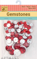 Gem Stones 8,12,20mm Each 5gms Red